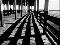 Seascape shadows-on-the-pier Wall Art