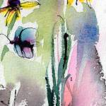 """Modern Floral Art Black Eyed Susan Watercolor"" by GinetteCallaway"