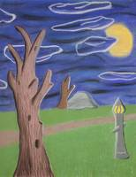 Darkness Along The Path Pastel