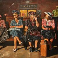 Waiting For The Train Art Prints & Posters by Kevin Peddicord