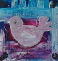 Portrait of a Bird on Pink