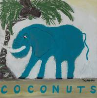 Blue Elephant and Three Coconuts