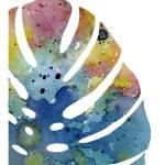 """""""tropical leaf 1 blue"""" by k9artgallery"""