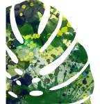 """""""tropical leaf 1 green"""" by k9artgallery"""