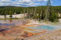 Yellowstone rainbow mud
