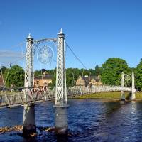 Foot Bridge across Inverness River by Richard Thomas