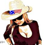 """Cowgirl Patriot-35-4000"" by davegafford"
