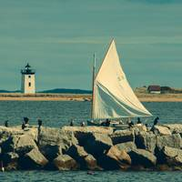 Provincetown Lighthouse and Sailboat