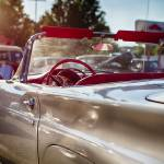 """Classic American Convertible in a Drive In"" by George_Oze"