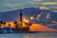 Hillsboro Inlet Light at Sunrise II