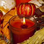 """Harvest Time Centerpiece With Candle (1 of 1)"" by memoriesoflove"
