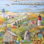 """cape-cod-watercolor-painting"" by Ezartesa"