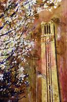 NCSU Bell-Tower watercolor painting