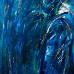 """Abstract crow in blue"" by BethWold"
