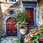 """Classic House Entrance in Umbria, Italy"" by George_Oze"