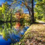 """Bright Autumn Day at the D & R Canal"" by George_Oze"