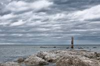 A cloudy day in Marina of Montemarciano, Italy