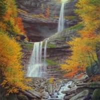 Kaaterskill Falls Art Prints & Posters by Barry DeBaun