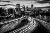 Minneapolis Skyline - Black and White
