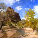 """Court Of The Patriarchs And Virgin River"" by almarphotography"