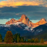 Tetons5bORG Art Prints & Posters by James Neeley