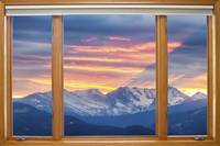 Colorado Rocky Mountain Sunset Waves Classic Wood