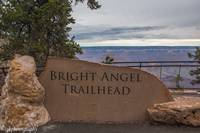 Bright Angel Trailhead at South Rim Grand Canyon -