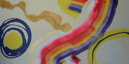 Aboriginal Abstract - OAzzie Rainbow, by Adam Asar