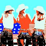 """Cowgirl Patriots-4000-e"" by davegafford"