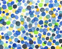 Happy Dots in Watercolor Abstract Art Baby Room