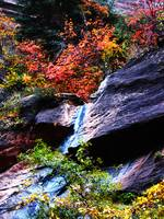 Autumn Waterfall in The Narrows