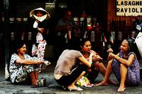 Ho Chi Minh City. The Luncheon on the Asphalt