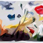 """Abstract Flowers Landscape Panorama"" by GinetteCallaway"