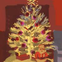 Silver Christmas Tree Art Prints & Posters by Roger White