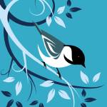 """deco-chickadee"" by waterart"