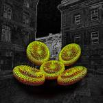 """""""The Invasion of the Psychedelic Bagels"""" by ecolosimo"""