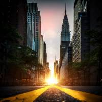ManhattanHenge Art Prints & Posters by Dan Martland