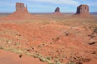 Little Brown Dog Monument Valley Mittens