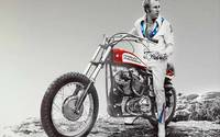 Evel Knievel Painting Spot Color Large