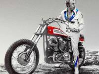 Evel Knievel Painting Spot Color Small