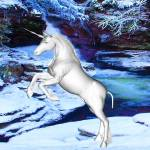 """""""Unicorn in the Snow"""" by Icarusismart"""