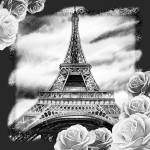 """Eiffel_Tower_Black_And_White_3"" by IrinaSztukowski"