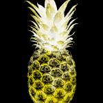 """14N Artistic Glowing Pineapple Digital Art Yellow"" by Ricardos"