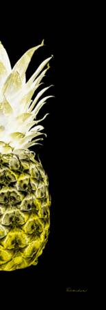 14NR Artistic Glowing Pineapple Digital Art Yellow
