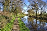 Walking along the Union Canal
