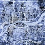 """""""Quad Cities Street Map"""" by ModernArtPrints"""