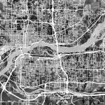 """Quad Cities Street Map"" by ModernArtPrints"