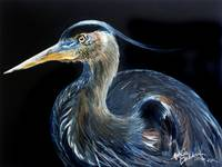 BLUE HERON WATERCOLOR 1612