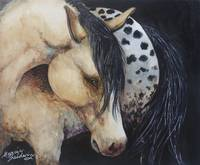 APPALOOSA IN WATERCOLOR ORIGINAL MARCIA BALDWIN