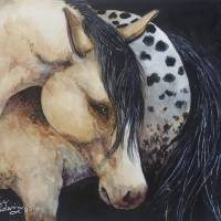 APPALOOSA IN WATERCOLOR ORIGINAL MARCIA BALDWIN by Marcia Baldwin